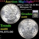 ***Auction Highlight*** 1882-p vam 5A I2 R5 Morgan Dollar $1 Graded ms66 By SEGS (fc)