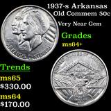 1937-s Arkansas Old Commem Half Dollar 50c Graded Choice+ Unc