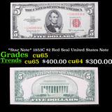 *Star Note* 1953C $2 Red Seal United States Note Grades Gem CU