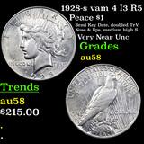 1928-s vam 4 I3 R5 Peace Dollar $1 Graded Choice AU/BU Slider