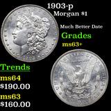 1903-p Morgan Dollar $1 Graded Select+ Unc