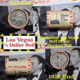 ***Auction Highlight*** Old Casino 50c Roll $10 Halves Las Vegas Casino Horseshoe 1928 Walker & 1925