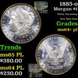 1885-o Morgan Dollar $1 Graded Choice Unc+ PL