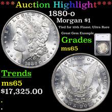 1880-o Morgan Dollar $1 Graded ms65 By SEGS (fc)