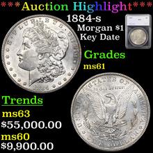 1884-s Morgan Dollar $1 Graded ms61 By SEGS (fc)