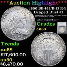 1800 BB-193/B-13 R-2 Draped Bust Dollar $1 Graded