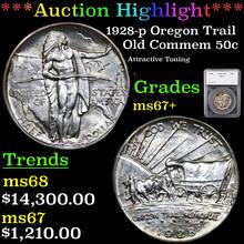 1928-p Oregon Trail Old Commem Half Dollar 50c