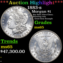 1883-s Morgan Dollar $1 Graded ms65 By SEGS (fc)