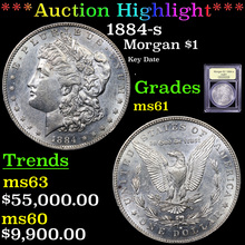 1884-s Morgan Dollar $1 Graded BU+ By USCG (fc)