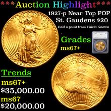 1927-p Near Top POP Gold St. Gaudens Double Eagle