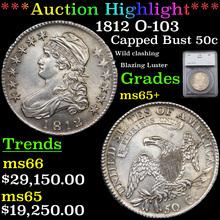 1812 O-103 Capped Bust Half Dollar 50c Graded