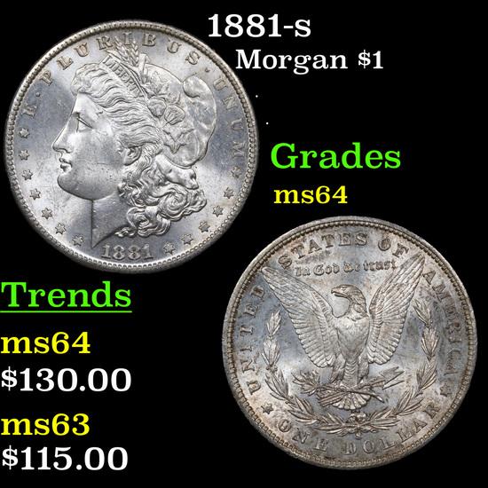 1881-s Morgan Dollar $1 Grades Choice Unc