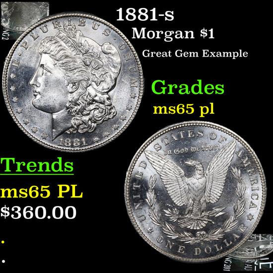 1881-s Morgan Dollar $1 Grades GEM Unc PL