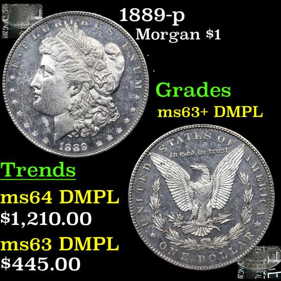 1889-p Morgan Dollar $1 Grades Select Unc+ DMPL