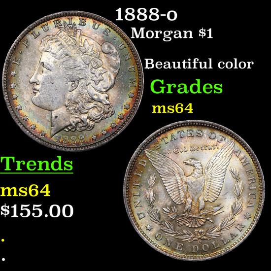 1888-o Morgan Dollar $1 Grades Choice Unc