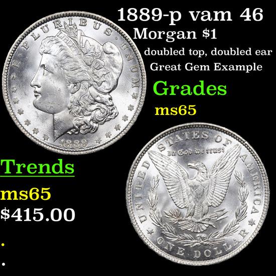 1889-p vam 46 Morgan Dollar $1 Grades GEM Unc