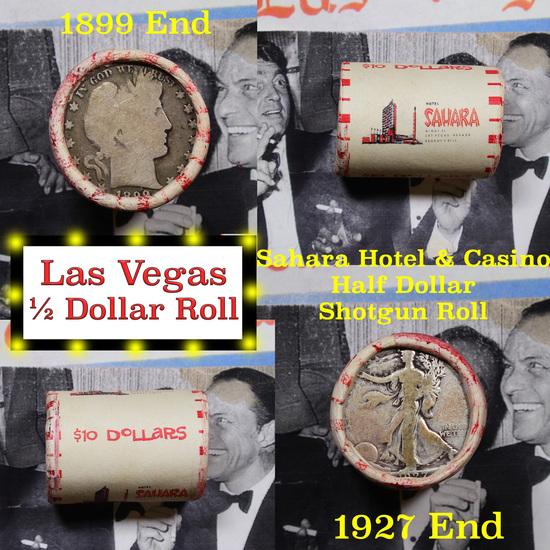 ***Auction Highlight*** Old Casino 50c Roll $10 Halves Las Vegas Casino Sahara 1927 Walker & 1899 Ba