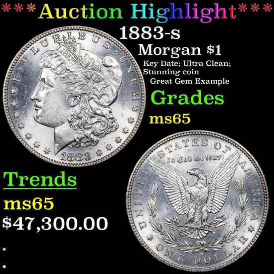 ***Auction Highlight*** 1883-s Morgan Dollar $1 Graded ms65 By SEGS (fc)
