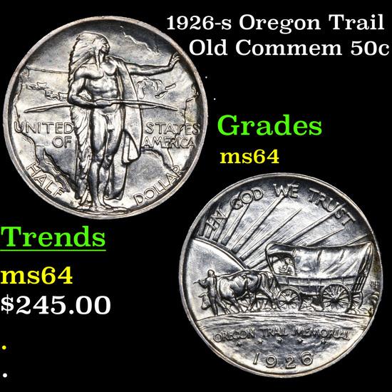 1926-s Oregon Trail Old Commem Half Dollar 50c Grades Choice Unc