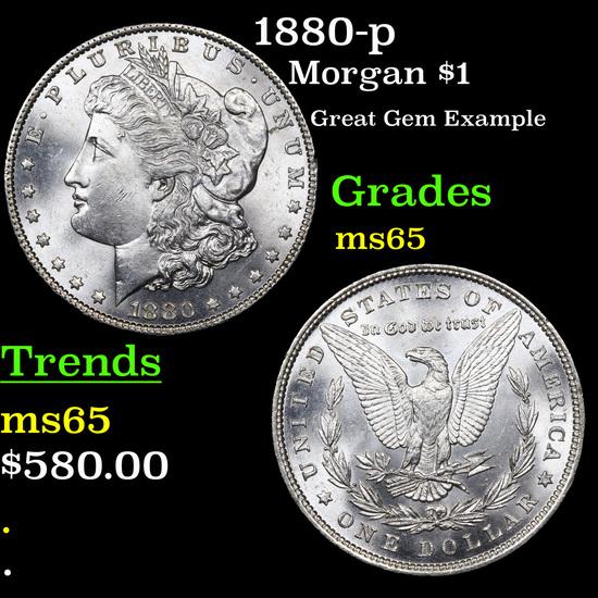 1880-p Morgan Dollar $1 Grades GEM Unc