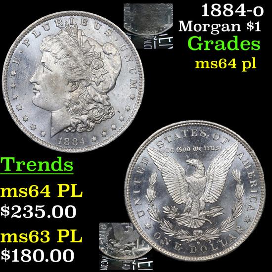 1884-o Morgan Dollar $1 Grades Choice Unc PL