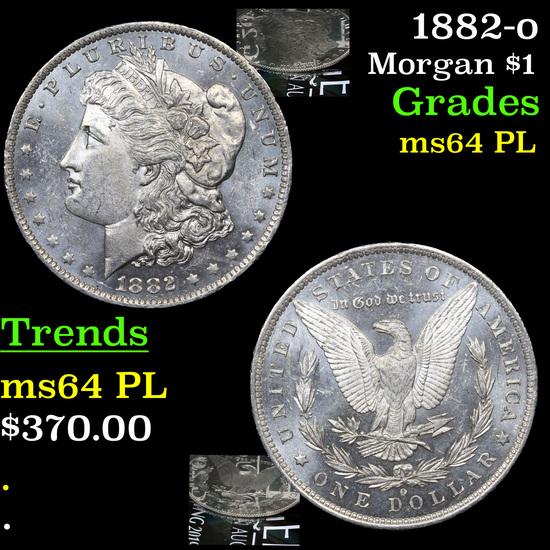 1882-o Morgan Dollar $1 Grades Choice Unc PL