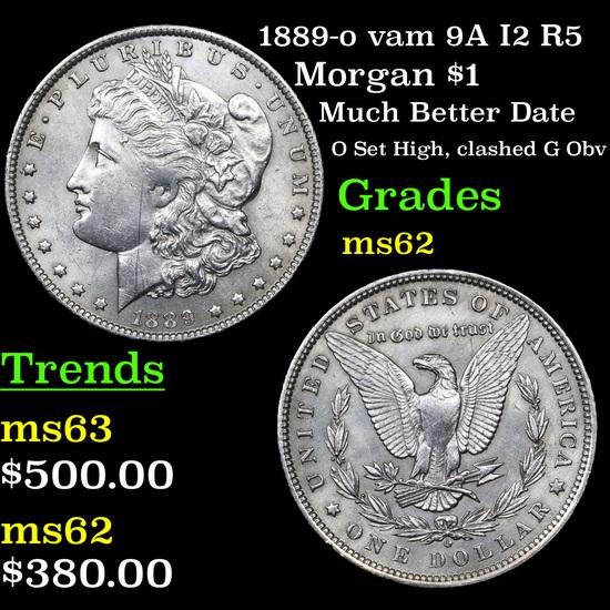 1889-o vam 9A I2 R5 Morgan Dollar $1 Grades Select Unc