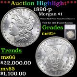 ***Auction Highlight*** 1890-p Morgan Dollar $1 Graded ms65+ By SEGS (fc)