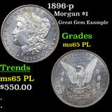 1896-p Morgan Dollar $1 Grades GEM Unc PL