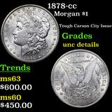 1878-cc Morgan Dollar $1 Grades Unc Details