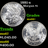 1881-s Morgan Dollar $1 Grades GEM++ Unc