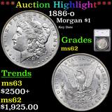***Auction Highlight*** 1886-o Morgan Dollar $1 Graded ms62 By SEGS (fc)