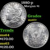 1880-p Morgan Dollar $1 Grades Select+ Unc