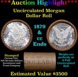 ***Auction Highlight*** 1879 & CC Uncirculated Morgan Dollar Shotgun Roll (fc)