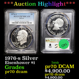Proof ***Auction Highlight*** PCGS 1976-s Silver Eisenhower Dollar $1 Graded pr70 dcam By PCGS (fc)