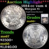 ***Auction Highlight*** 1884-cc vam 4 Morgan Dollar $1 Graded ms66+ By SEGS (fc)