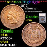 ***Auction Highlight*** 1877 Indian Cent 1c Graded vf30 By SEGS (fc)