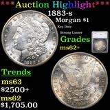 ***Auction Highlight*** 1883-s Morgan Dollar $1 Graded ms62+ By SEGS (fc)