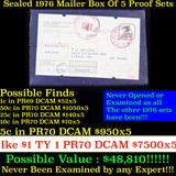 ***Auction Highlight*** Original sealed box 5- 1976 United States Mint Proof Sets (fc)