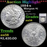 ***Auction Highlight*** 1884-s Morgan Dollar $1 Graded au58 By SEGS (fc)