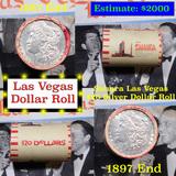 ***Auction Highlight*** Full Morgan/Peace Casino Las Vegas Sahara silver $1 roll $20, 1887 & 1897 en