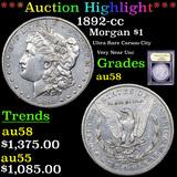 ***Auction Highlight*** 1892-cc Morgan Dollar $1 Graded Choice AU/BU Slider By USCG (fc)