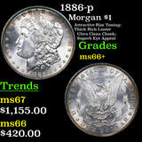 1886-p Morgan Dollar $1 Grades GEM++ Unc