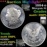 ***Auction Highlight*** 1884-o Morgan Dollar $1 Graded ms65+ DMPL By SEGS (fc)