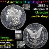 ***Auction Highlight*** 1882-s Morgan Dollar $1 Graded ms65+ dmpl By SEGS (fc)