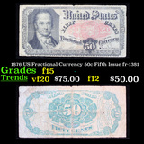 1876 US Fractional Currency 50c Fifth Issue fr-1381 Grades f+