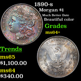 1890-s Morgan Dollar $1 Grades Choice+ Unc