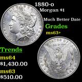1880-o Morgan Dollar $1 Grades Select+ Unc