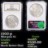 NGC 1902-p Morgan Dollar $1 Graded ms64 By NGC