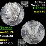1878-s Morgan Dollar $1 Grades Select Unc PL